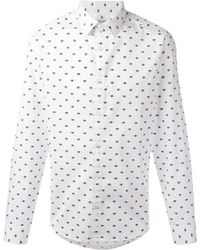 KENZO | White Eyes All Over Shirt | Lyst