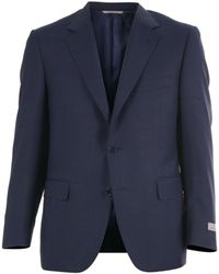 Canali - Men's Blue Wool Suit - Lyst