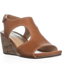 Naturalizer - Cinda Wedge Sandals, Maple Leather - Lyst