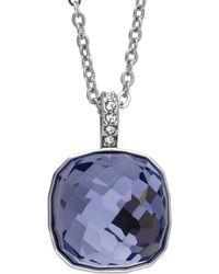 Swarovski - Crystal Dot Plated Necklace - Lyst