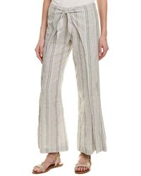 4our Dreamers - Tie-front Linen-blend Pant - Lyst