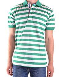 Paul & Shark - Men's White/green Cotton Polo Shirt - Lyst