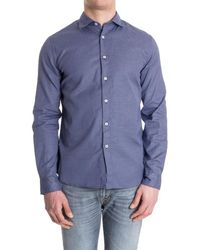 Missoni - Men's Blue Cotton Shirt - Lyst