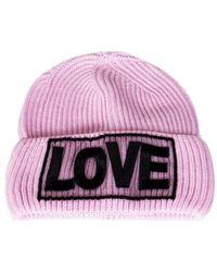 Versace   Women's Pink Wool Hat   Lyst