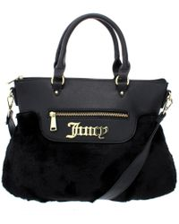 Juicy Couture - Womens In The Mix Faux Fur Faux Leather Trim Satchel Handbag - Lyst