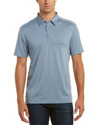 John Varvatos - Hampton Silk-blend Polo Shirt - Lyst