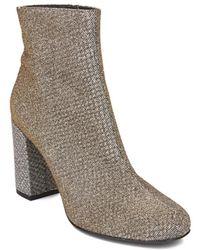 Saint Laurent - Women's Babies 90 Ankle Boot Heel Shoes Gold Silver - Lyst