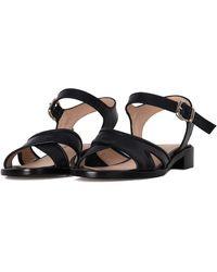 Franca - Women's Blue Leather Sandals - Lyst