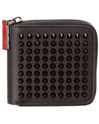 Christian Louboutin | Panettone Square Leather Zip Around Wallet | Lyst