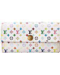 Louis Vuitton - White Monogram Multicolore Canvas Sarah Wallet - Lyst