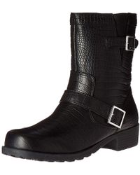 Softwalk - Womens Bellville Leather Closed Toe Ankle Fashion Boots - Lyst