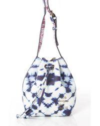 Desigual - Women's Blue Faux Leather Shoulder Bag - Lyst