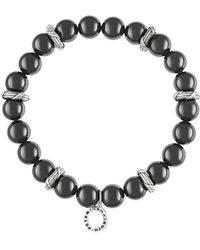 Peter Thomas Roth Fine Jewelry - Peter Thomas Roth Bead Stretch Bracelet In Sterling Silver With 9mm Black Onyx - Lyst