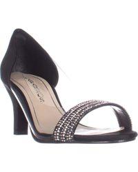 Caparros | Fancy Peep-toe Embellished Evening Pumps, Black | Lyst