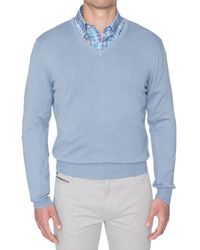 Robert Talbott - Toyon Cotton V-neck Sweater - Lyst
