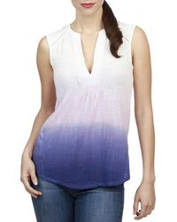 Lucky Brand - Womens Ombre Sleeveless Pullover Top - Lyst