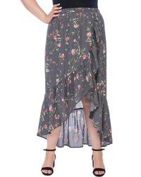 Bobeau - Larz Plus Floral Skirt - Lyst