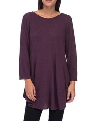 Bobeau - Soft Brushed Babydoll Hemline Knit - Lyst