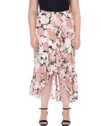 Bobeau - Larz Plus Size Floral Skirt - Lyst