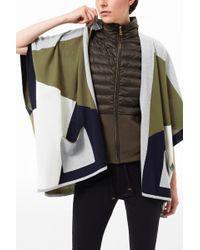 Bogner - New Wool Poncho Lele In Husky Grey/khaki - Lyst