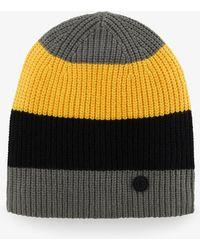 c4b973bd3 Bogner - Noa Knitted Hat In Olive/black/golden Yellow - Lyst