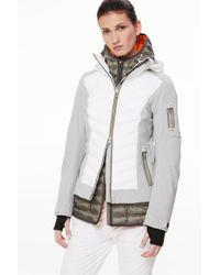 4641ead8302 Bogner - Rumer Ski Jacket In Gray white khaki - Lyst