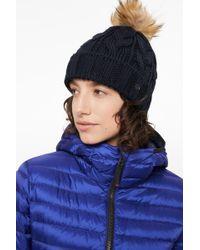 Bogner - Vineta Knitted Hat In Navy Blue - Lyst