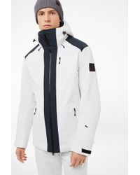 Bogner - Hank Ski Jacket In Off-white/navy Blue - Lyst