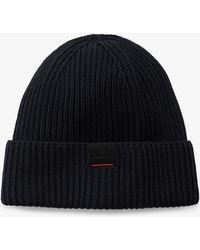 Bogner - Vasco Knitted Hat In Navy Blue - Lyst