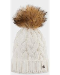 551fab33e62ae Bogner - Vineta Knitted Hat In Off-white - Lyst