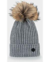 Bogner - Leonie Knitted Hat In Husky Grey - Lyst