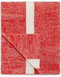 Bogner - Revel Knitted Scarf In Red/white - Lyst