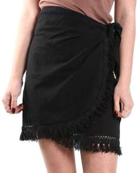 The Lady & The Sailor - Wrap Skirt W/ Crochet Trim - Lyst