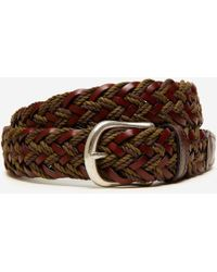 Bonobos - Leather And Woven Braided Belt - Lyst