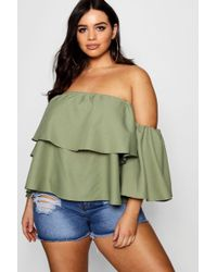 Boohoo - Plus Off The Shoulder Top - Lyst