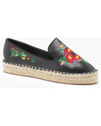 Boohoo - Floral Embroidered Espadrilles - Lyst