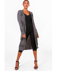 Boohoo - Marl Long Edge To Edge Maxi Cardigan - Lyst