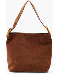 Boohoo - Suedette Resin Strap Daybag - Lyst