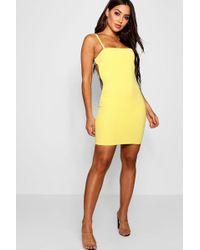 Boohoo - Open Back Sports Trim Bodycon Dress - Lyst