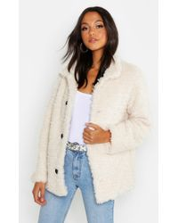 Boohoo - Teddy Faux Fur Coat - Lyst