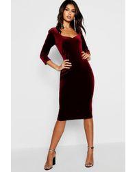 54404b5ca092f Alice + Olivia Delora Fitted Mockneck Dress in Black - Lyst