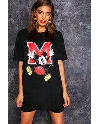 Boohoo - Disney Mickey Oversized Graphic T Shirt - Lyst