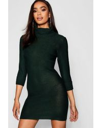 Lyst - Boohoo Tall Soft Knit Roll Neck Jumper Dress in Natural cab7bd6fc