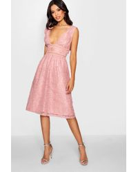 Boohoo - Boutique Panelled Skater Dress - Lyst