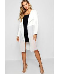 Boohoo - Mixed Chiffon Waterfall Duster - Lyst