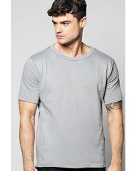 Boohoo | Oversized Woven Raw Edge T-shirt | Lyst
