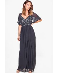 Boohoo - Boutique Embellished Maxi Dress - Lyst