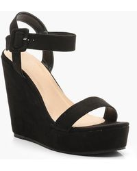 Boohoo - 2 Part Wedges - Lyst