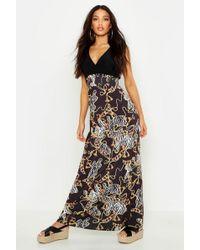 1e7ad55bb329b Boohoo - Chain Print Maxi Dress - Lyst