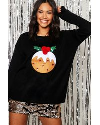 cf85b03e78c8f Boohoo Petite Novelty Christmas Sweater in Green - Lyst